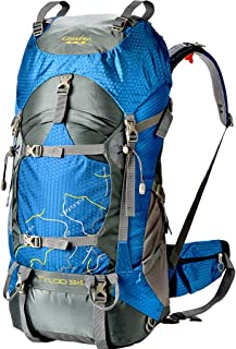 Male and Female Outdoor Mountaineering Bag Travel Hiking Backpack Mountain Climbing Backpack (Color : Blue)