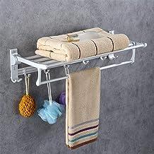 Badkamer mat ruimte aluminium enkellaags handdoekrek, handdoekrek voor badkamer, opvouwbaar handdoekrek, rek van 60 cm