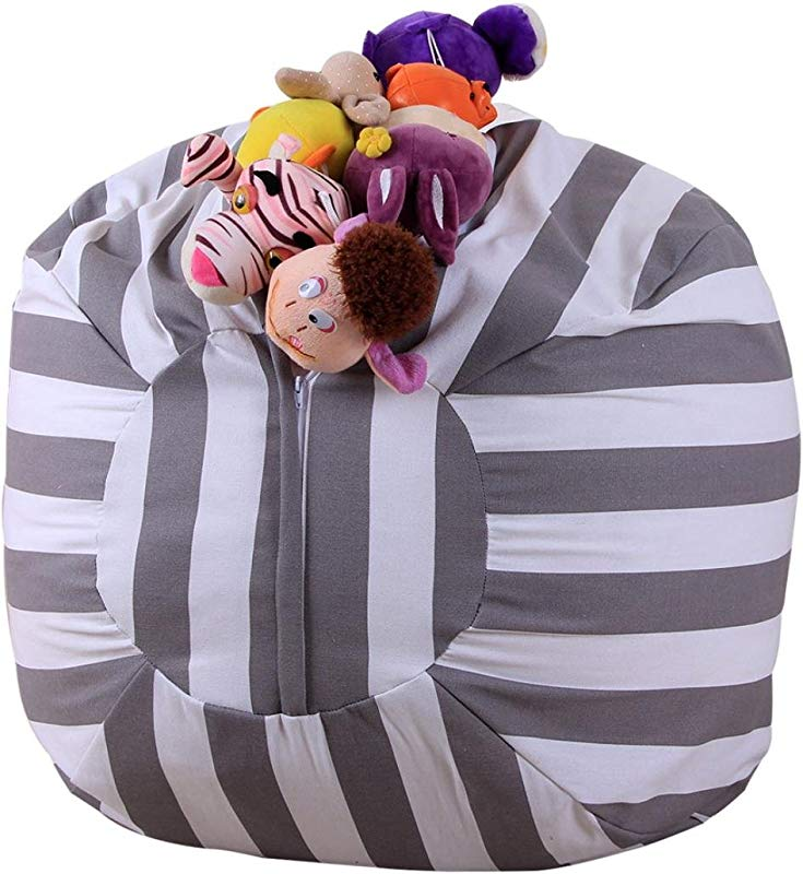 Amiley Extra Large Stuffed Animal Kid Bean Bag Chair Storage For Your Child S Stuffed Animals And Blankets Clean Up The Room