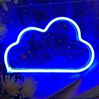 Protecu Lampe néon LED mignonne - Alimentation par USB et batterie - Pour décoration murale et artistique, décoration et c...