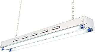 DuroLux DL822S T5 2Ft 2 Fluorescent Lamps Grow Lighting System with 5000 Lumens and 6500K Full Spectrum and Super Low Profile 3.5