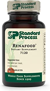 Standard Process - Renafood - Whole Food Kidney Support Supplement for Healthy Renal Function, Vitamin A, Vitamin C - 180 Tablets