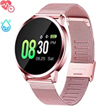 GOKOO Smart Watch for Women with All-Day Heart Rate Blood Pressure Sleep Monitor IP67 Waterproof Activity Tracker Calorie Counter Fitness Tracker Pink