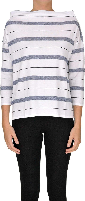 Base Milano Women's MCGLMGP000005092E White Cotton Sweatshirt