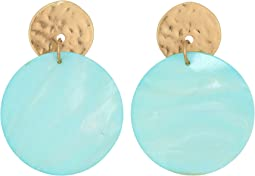 Mother-of-Pearl Disc Earrings