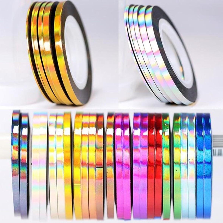 ビルマやけどラフBlueZOO (ブルーズー) レーザーラインテープ 幅0.8mm/2mm/3mm ジェルネイルアート用品 輝き ゴールド シルバー フレンチ ライン テープ ネイルシール ストライピングテープ 爪 アクセサリー