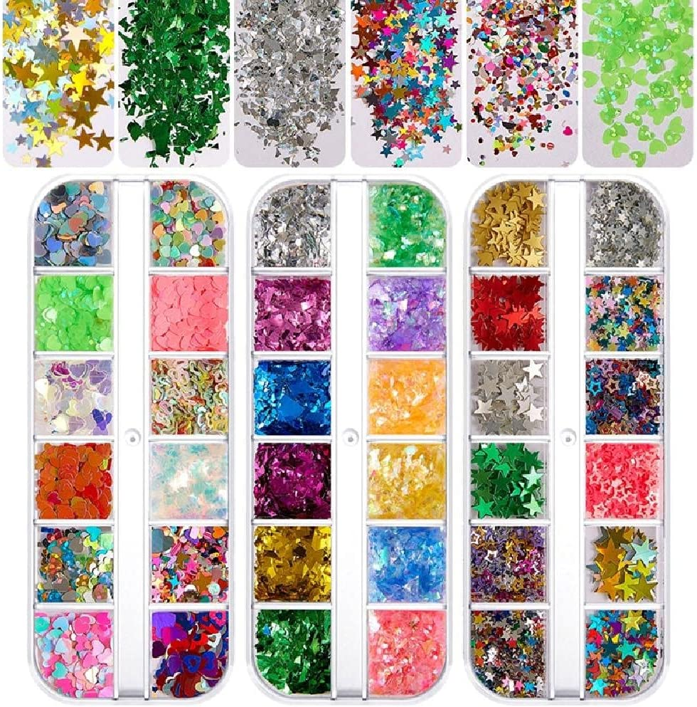 Glitter Nail Sequins Multi Colors Ranking TOP10 Cosmetic Laser Very popular! Holographic Fes