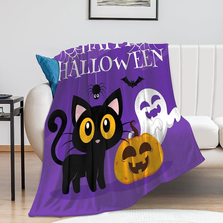 citari Happy Halloween Great interest Throw Blanket Cat Ghost Max 81% OFF Pumpkin Bat Spide