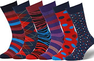 a6fa8c5b2564 Easton Marlowe Men's 3 & 6 Pk Colorful Patterned Dress Socks, Made in Europe