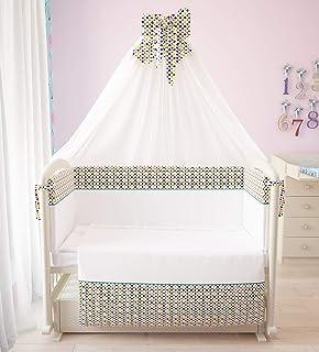 """Polini Kids Baby Bett-Set Wäsche-Set 120x60 """"Konfetti"""" 7-tlg"""