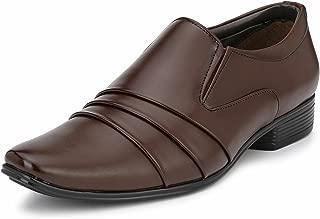 GUAVA Men Formal Slip-On Shoe - Brown