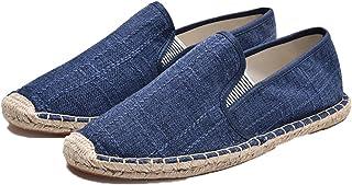 Espadrilles pour Hommes Couleur Unie Simple Slip-on Low-Top Casual Chaussures Chaussures Plates en Toile légères résistant...