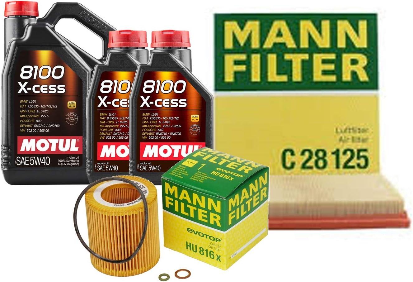 Newparts 7L 8100 XCESS security 5W40 Max 60% OFF Filter Motor s Oil Change F16 Kit X6