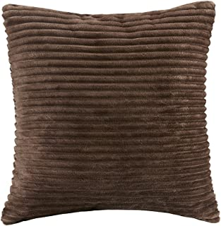 Premier Comfort Parker Corduroy Plush Accent Throw Pillow, Lodge/Cabin Square Decorative-Pillow for Bed, Coach or Sofa, 20