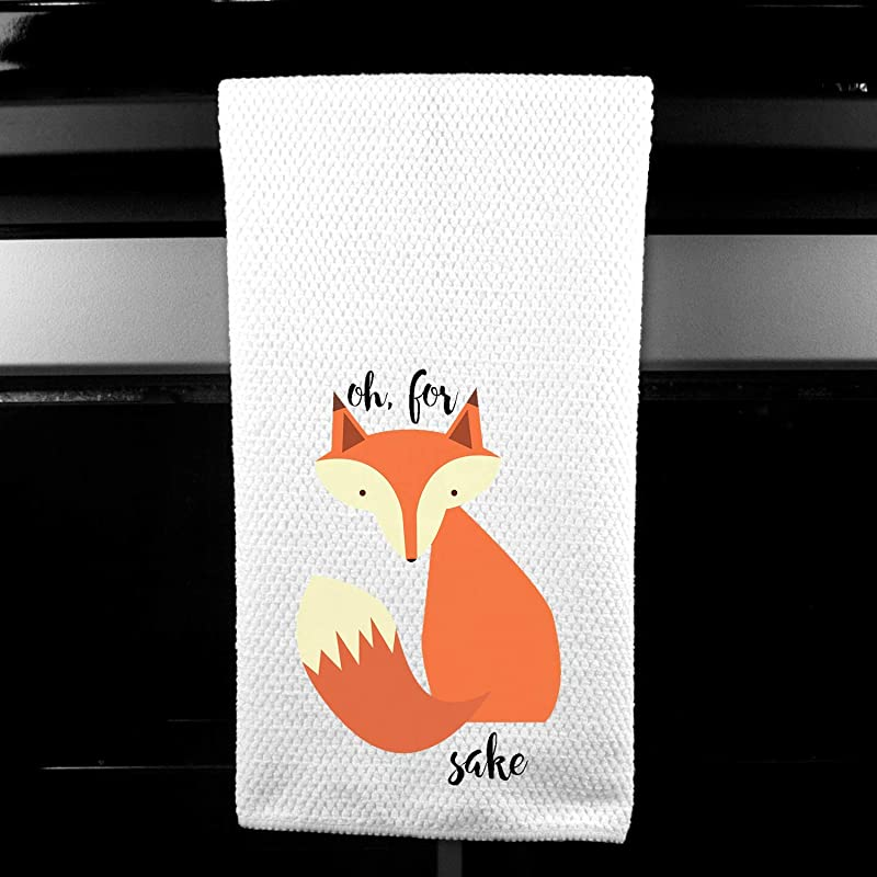 Oh For Fox Sake Funny Saying Microfiber Kitchen Towel Gift For Her