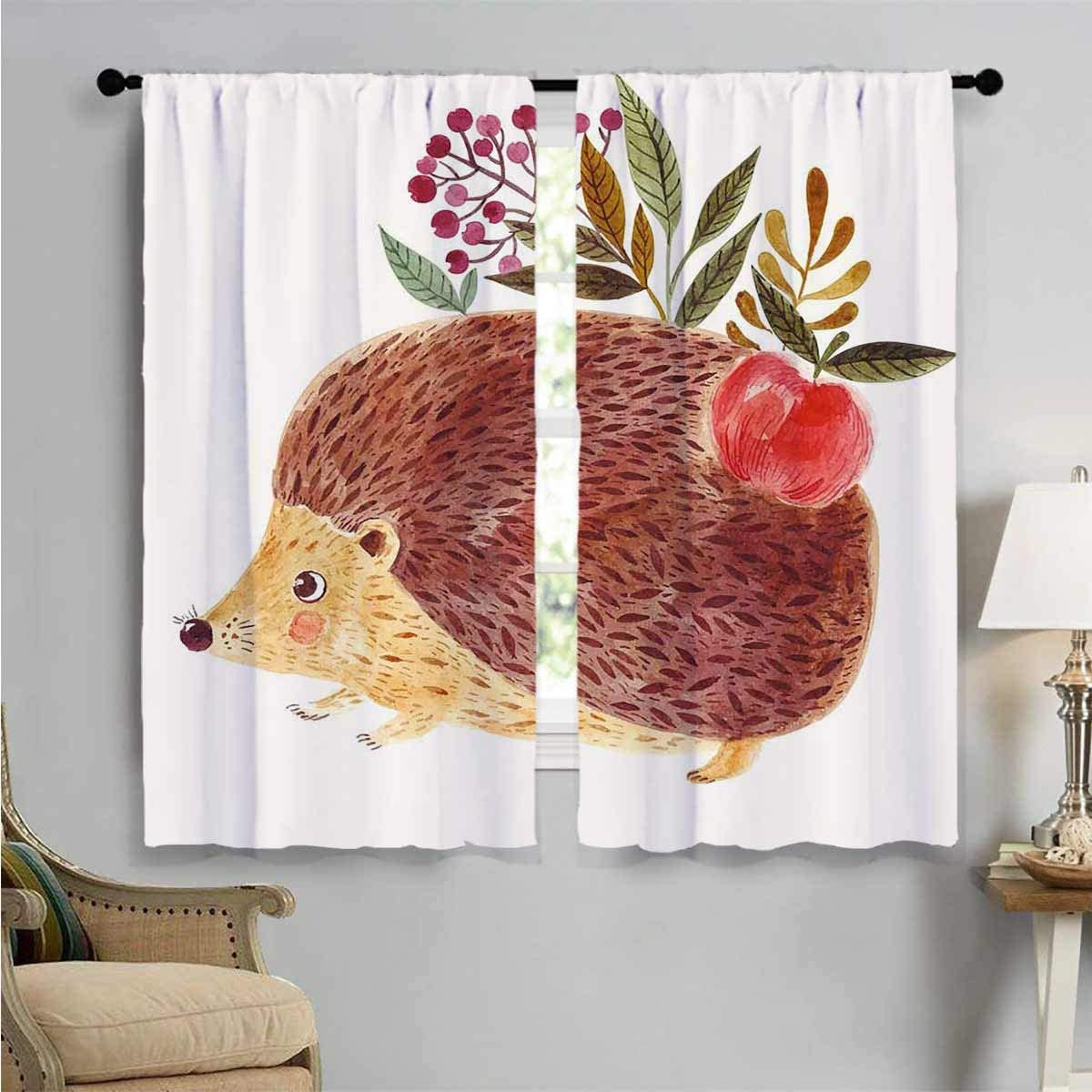 Blackout Window Curtain Hedgehog by Ranking TOP13 Watercolor Decor Beauty products Curtains