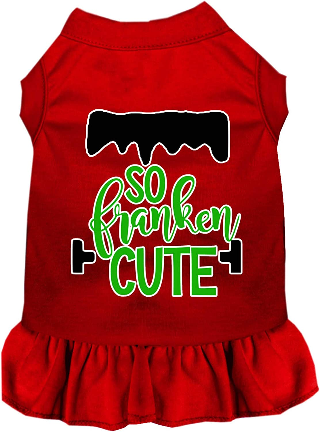 Mirage Pet Max 43% OFF New Free Shipping Product So Franken Cute XX Red Screen Dress Print Dog