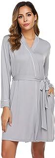 Avidlove Womens Robe Cotton Lightweight Robe Short Knit Bathrobe Soft Sleepwear