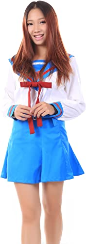 gran venta De-Cos Cosplay Costume Asahina Mikuru Female Winter School School School Uniform Set V2  sin mínimo