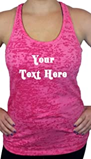 Custom Tank Tops Womens Workout Racerback. Front Design & Personalize Your own Shirt.