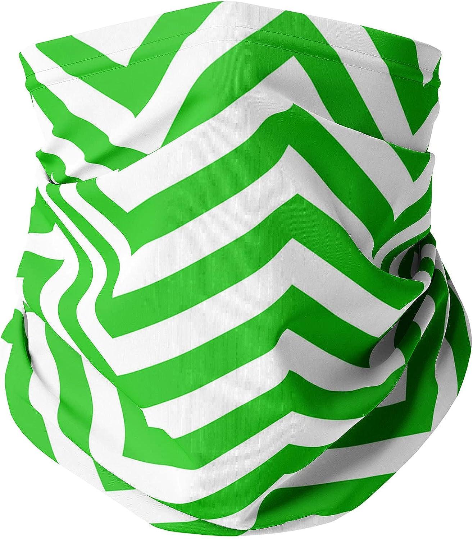 Neck Gaiter Face Covering - Chevron Stripes