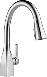 Delta Faucet Mateo Single-Handle Kitchen Sink Faucet with Pull Down Sprayer, Shield Spray Technology and Magnetic Docking ...