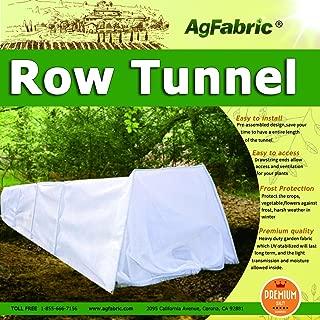 Grow Tunnel for Plants Greenhouse Garden Windowed Row Tunnel with Fleece Cover, Medium 10ft Longx 23