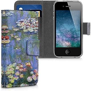 ca079a77af7 kwmobile Funda para Apple iPhone 4 / 4S - Carcasa de [Cuero sintético] con
