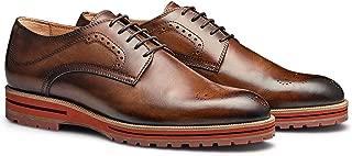 MORAL CODE The Mayson: Men's Leather Oxford Semi Brogue Blucher Dress Shoe