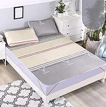 Summer Sleeping mat, Foldable ice Silk mat, Student Dormitory mat, 1.5m Bedding, Three-Piece Set, Foldable Winter and Summ...