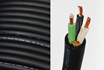 15 ft 6//4 SOOW SOO SO S00W Black Rubber Cord Outdoor Flexible Wire//Cable
