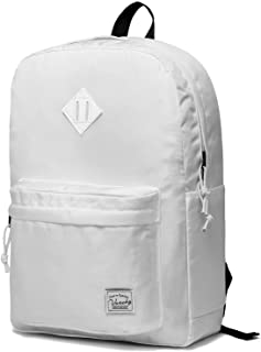 Vaschy Lightweight Backpack,20 Liters Classic Basic Waterproof Foldable Daypack for Sports and Traveling, School Book Bag in White