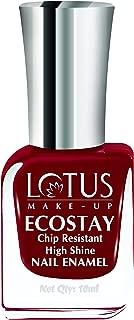 Lotus Makeup Ecostay Nail Enamel, Raspberry Wine, 10ml