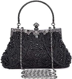 Selighting Abendtaschen Damen Vintage Clutch Tasche mit Perlen Elegant Handtasche Umhängetasche für Party Hochzeit Bankett...