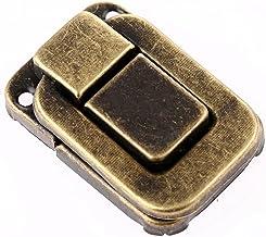 1x 48 * 32mm Lock Catch-vergrendelingen voor Sieraden Borstbox Koffer Gesp Clip Sluiting Vintage Hardware (Color : Antique...