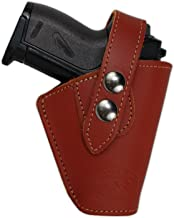 Barsony New Burgundy Leather Concealment OWB Belt Clip Holster for Mini 22 25 .380