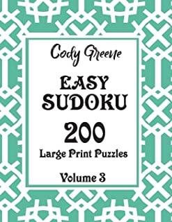 Easy Sudoku: 200 Large Print Puzzles Volume 3