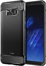 JETech Hülle für Samsung Galaxy S8+ Plus, Tasche Schutzhülle mit Stoßdämpfung und Kohlefaser, Schwarz
