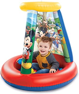 Mickey Mouse 94782 Ball Pit, 1 Inflatable + 15 Soft-Flex Balls