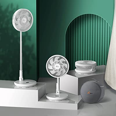 Elegear Floor Fan and Desk , 9 Speeds 11'' Super Quiet 7800 mAh- Portable and Foldable