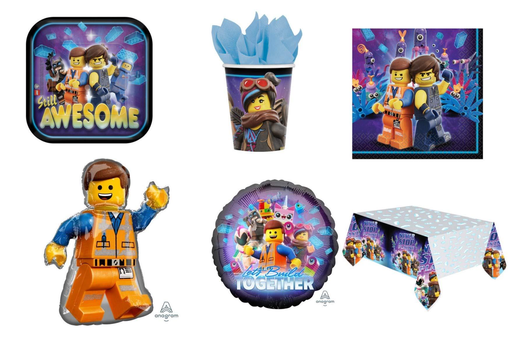 Movie - Juego de Mesa de Fiesta de Lego Movie - Kit n.º 5 CDC (40 Platos, 40 Vasos, 40 servilletas, 1 Mantel, 1 Globo Foil y 1 supershape: Amazon.es: Juguetes y juegos