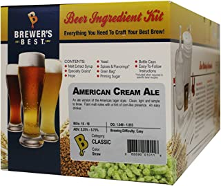 Brewer's Best – Home Brew Beer Ingredient Kit (5 Gallon), (American Cream Ale)