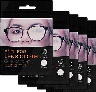 MAFENLY Microfiber Anti-Fog Bril Reinigingsdoek, Glazen Doek, Lens Doekjes voor Alle Elektronische Apparatuur Schermen (5 ...