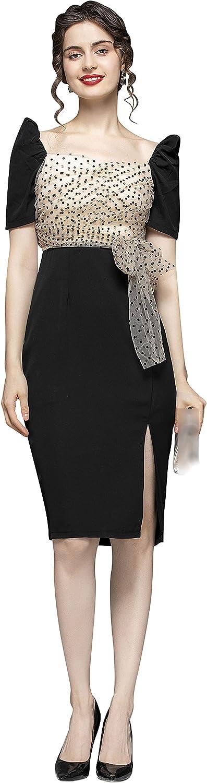 Women's Elegant Collared Neck V Work to Bodycon 新品未使用正規品 Office Wear 祝開店大放出セール開催中