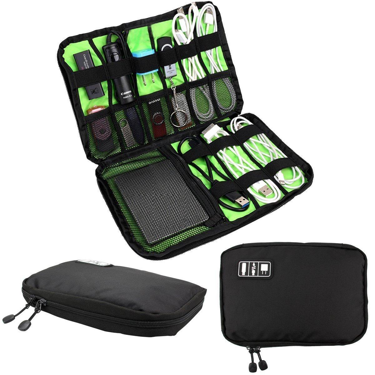 Estuche Romote organizador de cables Accesorios Electrónica bolsa de viaje del disco duro para USB cargador de teléfono Banco de alimentación: Amazon.es: Hogar