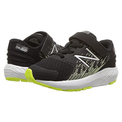 New Balance Kids KVURGv2I (Infant/Toddler) (Black/Glow) Boys Shoes