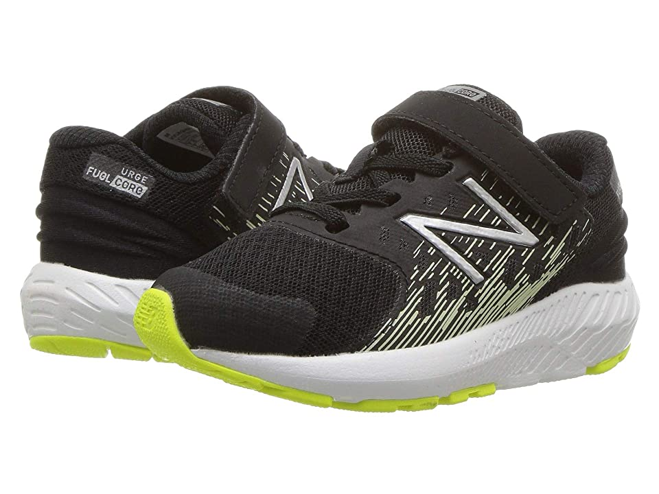 New Balance Kids KVURGv2I (Infant/Toddler) (Black/Glow) Boys Shoes