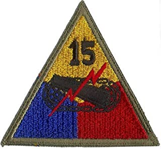 Embroidered Patch - Patches for Women Man - US Army 15TH Armored Division WWII