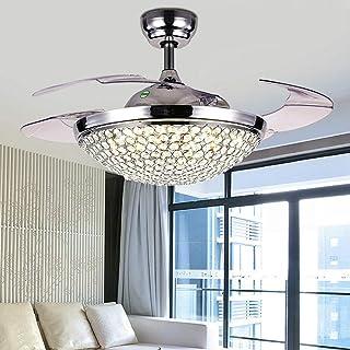 WUPYI2018 Ventilateur de plafond avec éclairage et télécommande, plafonnier LED invisible, 42 pouces, plafonnier moderne p...