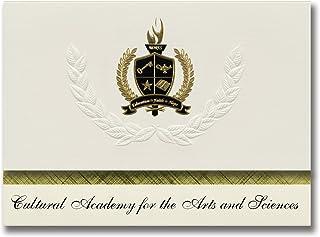Signature Ankündigungen Kulturelle Akademie für der Kunst und Wissenschaft (Brooklyn, NY) Graduation Ankündigungen, Presidential Elite Pack 25 mit Gold & Schwarz Metallic Folie Dichtung B078VCSCPF  Zu einem erschwinglichen Preis